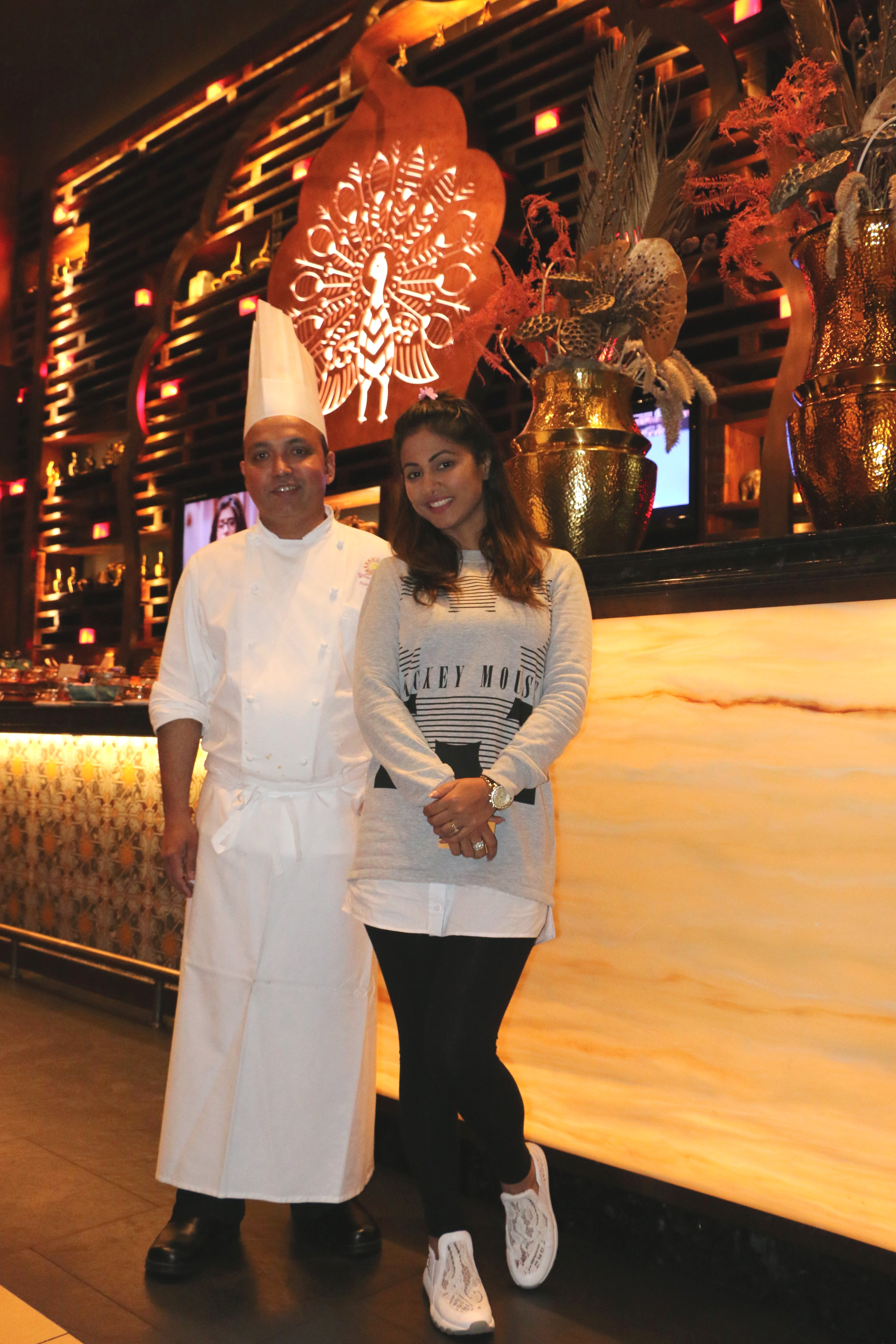 indian tv star hina khan visits the venetian macao