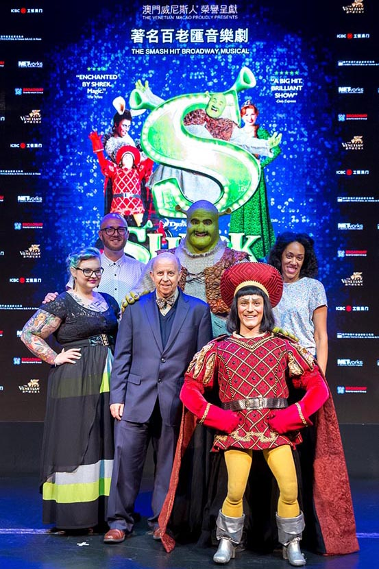 Shrek the Musical Press Call Group Photo
