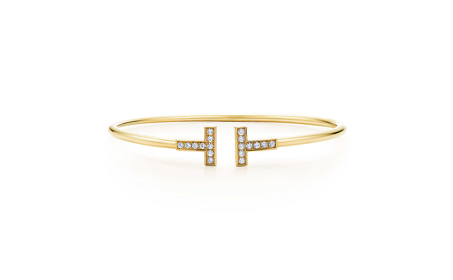Tiffany T Wire Bracelet in Gold