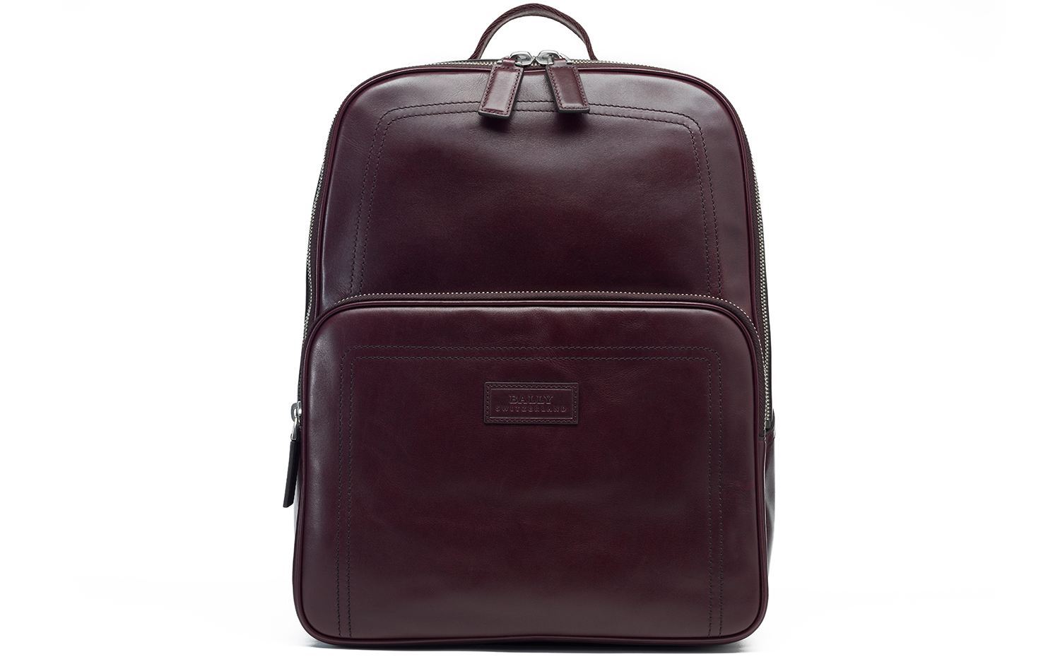 Bally Transfer Leather Backpack Red