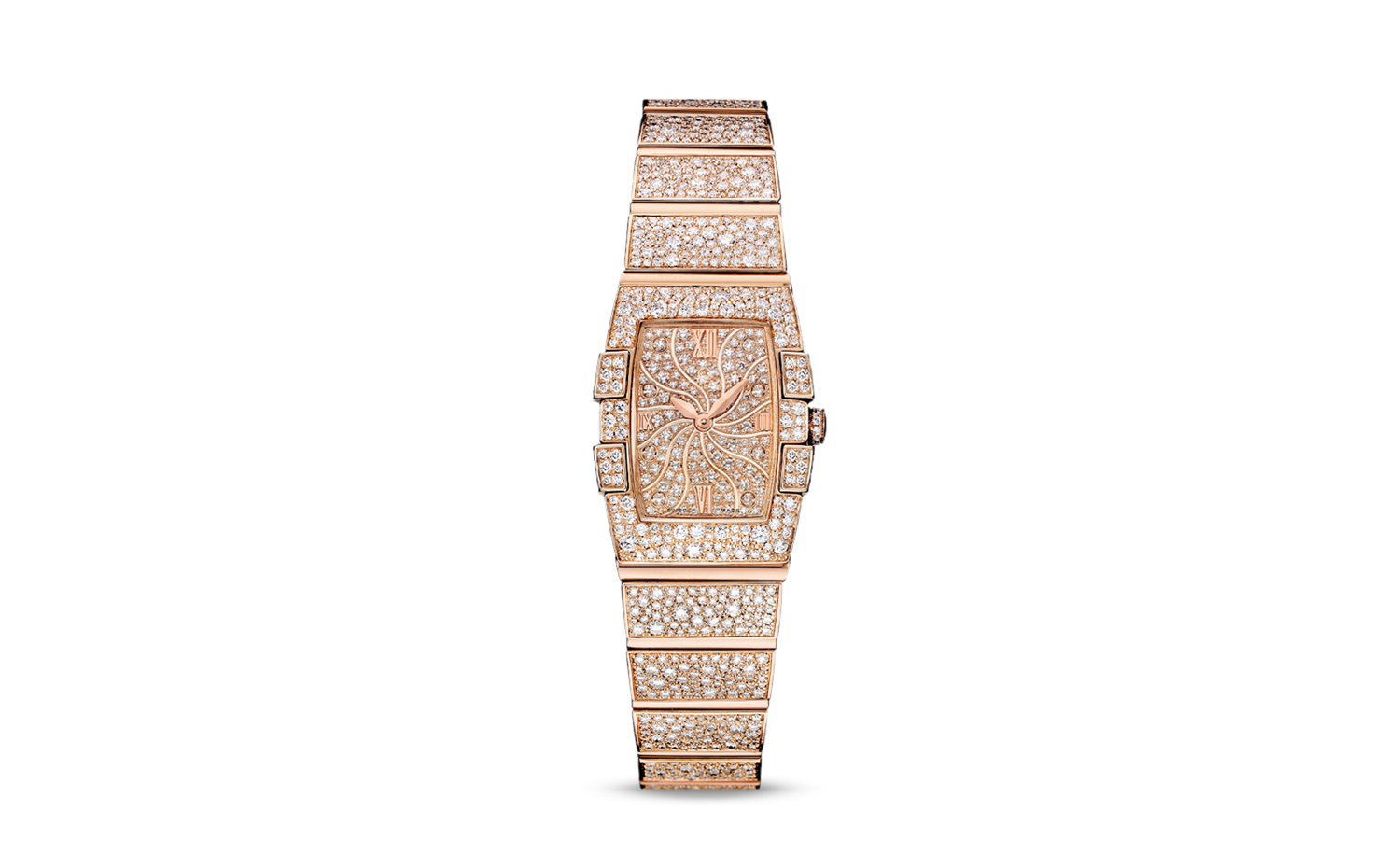 OMEGA Constellation Quadrella Quartz - Red Gold