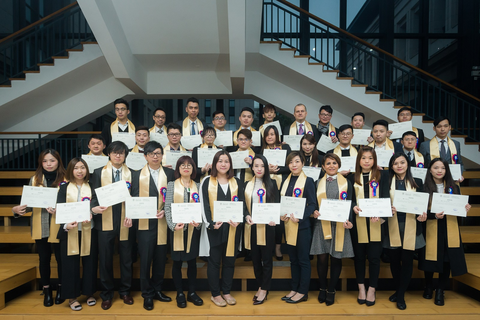 Sands China Ltd. and the University of Macau's Centre for Continuing Education recognise the third group of Sands China team members to graduate from the customised one-year Diploma Programme in Business Management at a graduation ceremony at the university Tuesday.